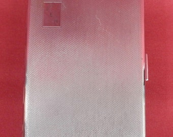 A Vintage Silver Coloured Cigarette Case , Shabby Chic ,Retro, Boho