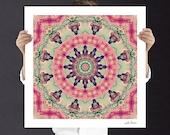 Home Decor Buddhist Mandala Art Print - Boho Art, Instant Download | Signed Art Print | Fractal Art | Printable Unisex Gift