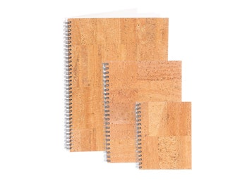 Notebook with cork cover