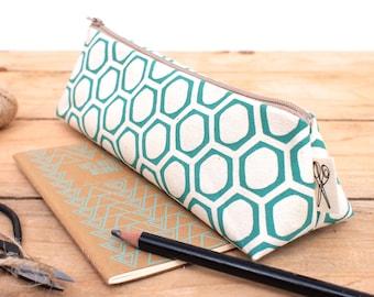Pencil Case Honeycomb Print