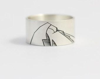Mens Wedding Ring Mountain Ring Mountain Wedding Band