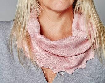 Pale Pink Cowl, Ladies Fashion, Snood, Luxury, Birthday Gift, Autumn Cowl, Winter Snood, Neck Warmer, Chevron Cowl, Unique, 16