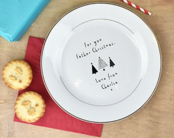 Father Christmas Personalised Treat Plate - Santa Plate - Christmas Eve Plate -Personalized Plate - Personalised Plate [PLA005]