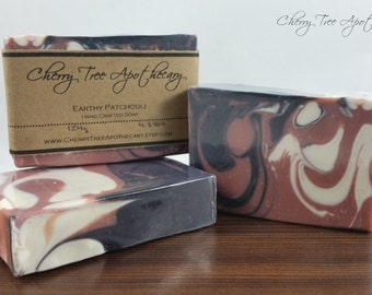 Earthy Patchouli Handcrafted Soap - Vegan Soap - Cold process Soap - Handmade Soap - Bar Soap - Fall Soap - Earthy Soap - Masculine Soap