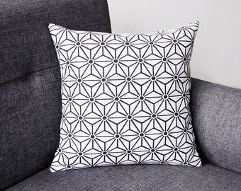 Cushion cover - Model JAPAN - Black and white 15,75x15,75 in or 19.7x11.8 in
