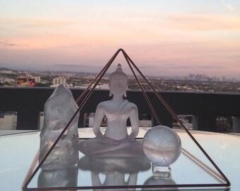 Copper  Pyramid - 9'' Meditation Pyramid - Emf Protection - Handcrafted Meditation Pyramid - Headgear Pyramid