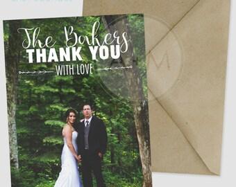 Customized Wedding Photo Thank You Cards // Baker Design // Thank you // Wedding Thank You //