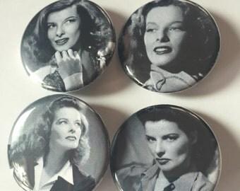 Katharine Hepburn pin pack