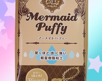 Mermaid Puffy Biscuit Water Resistant Air Dry Clay - Padico Japan Decollage for Fake Sweets & Charms