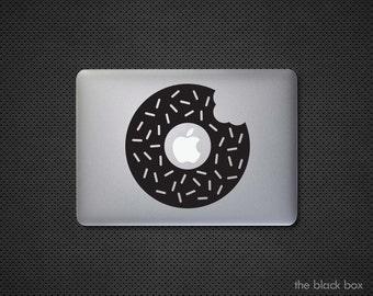 Apple Donut Macbook decal - Macbook sticker