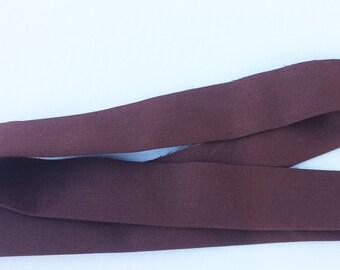 Chocolate Kona Quilt Binding by Robert Kaufman Per Yard