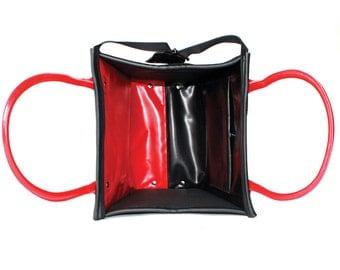 BIRD BAG red & black
