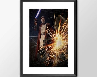 Obiwan Kenobi Jedi Knight - Star wars inspired Print - BUY 2 Get 1 FREE