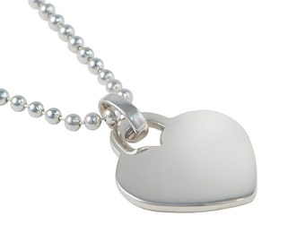 Heart Tag Pendant on a Ball Chain