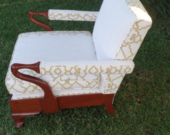 SOLD-Original Vintage Parker Knoll Armchair custom upholstered accent chair furniture