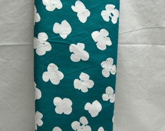 "Popcorn Print Teal & White Cotton  44""W  Vintage Quilt Apparel Fabric SBTY"