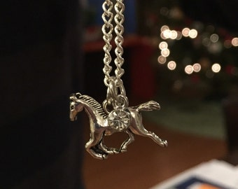 Horse Necklace, Horse Jewelry, Horse Charm, Equestrian Gifts