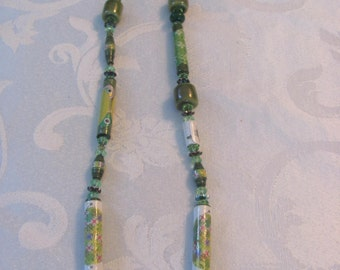 paper beads with kazuri beads