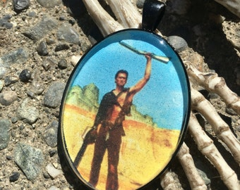 Ash Army of Darkness Evil Dead Resin Pendant Necklace Horror Bruce Campbell