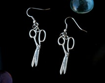 Scissor Earrings Tool Earring  Scissor Jewelry Dangle Earrings Seamstress  Hairdresser Earrings Vintage Scissors Handmade