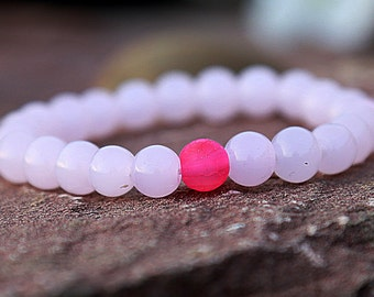 gift for women Rose Quartz bracelet Quartz Jewelry girlfriend gift Women bracelet natural bracelet Women Jewelry girlfriend bracelet for her