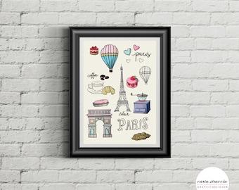 Poster-I Love Paris