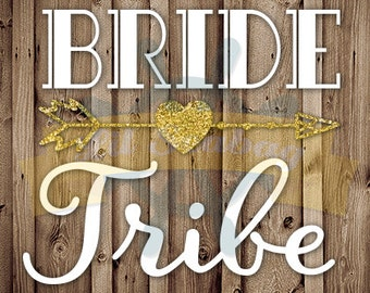 Do it yourself! DIY Bride Tribe Iron-On Screen Print Transfer, Bride Tribe Arrow