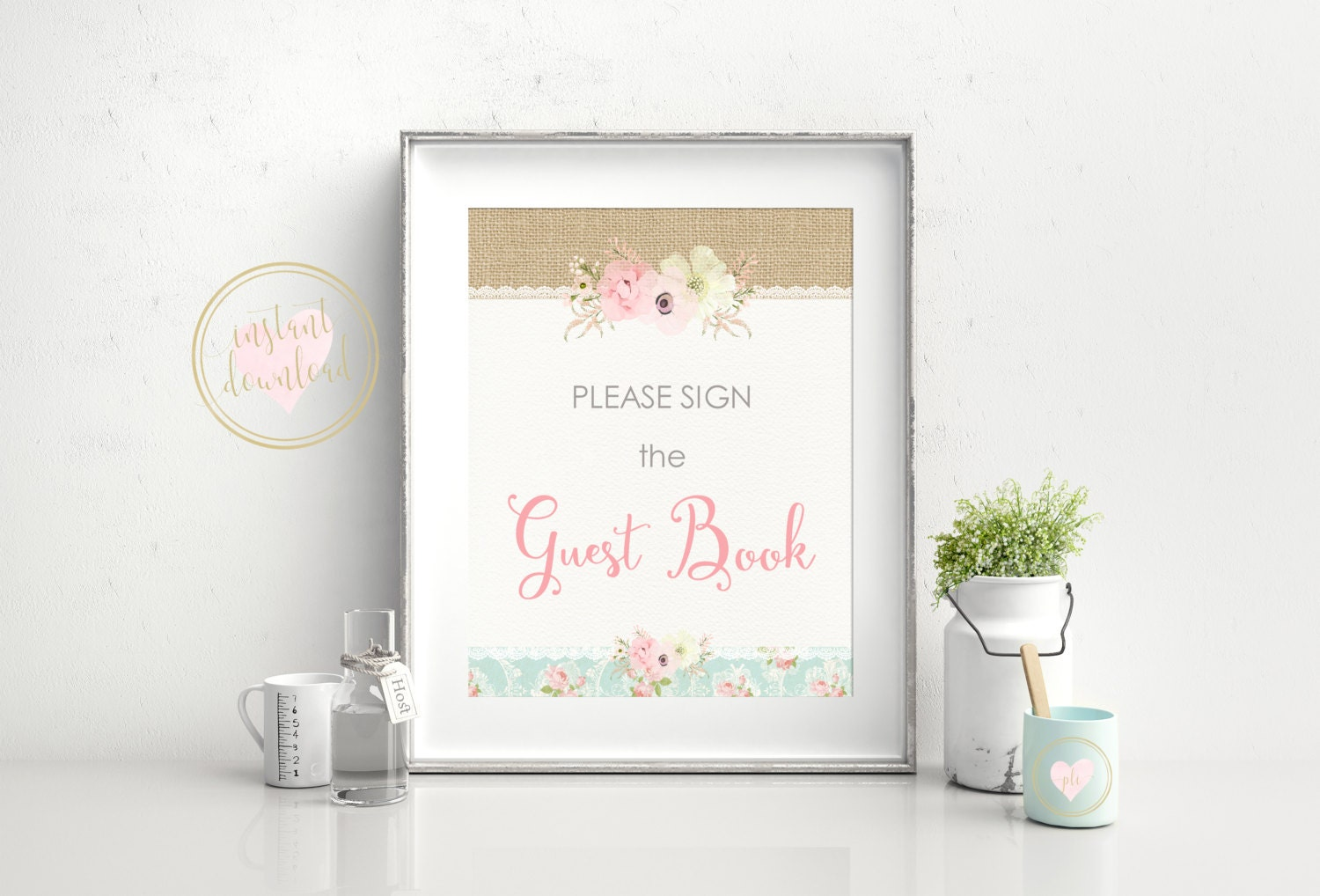Baby Shower Guest Book Sign ~ Baby shower guest book sign