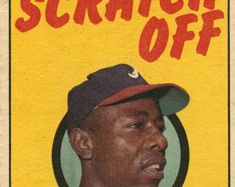 Hank Aaron 1971 Topps Play Baseball Scratch Off