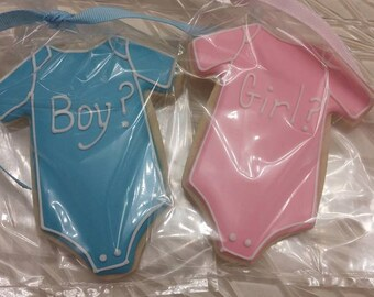 Gender Reveal Cookies (all colors available)