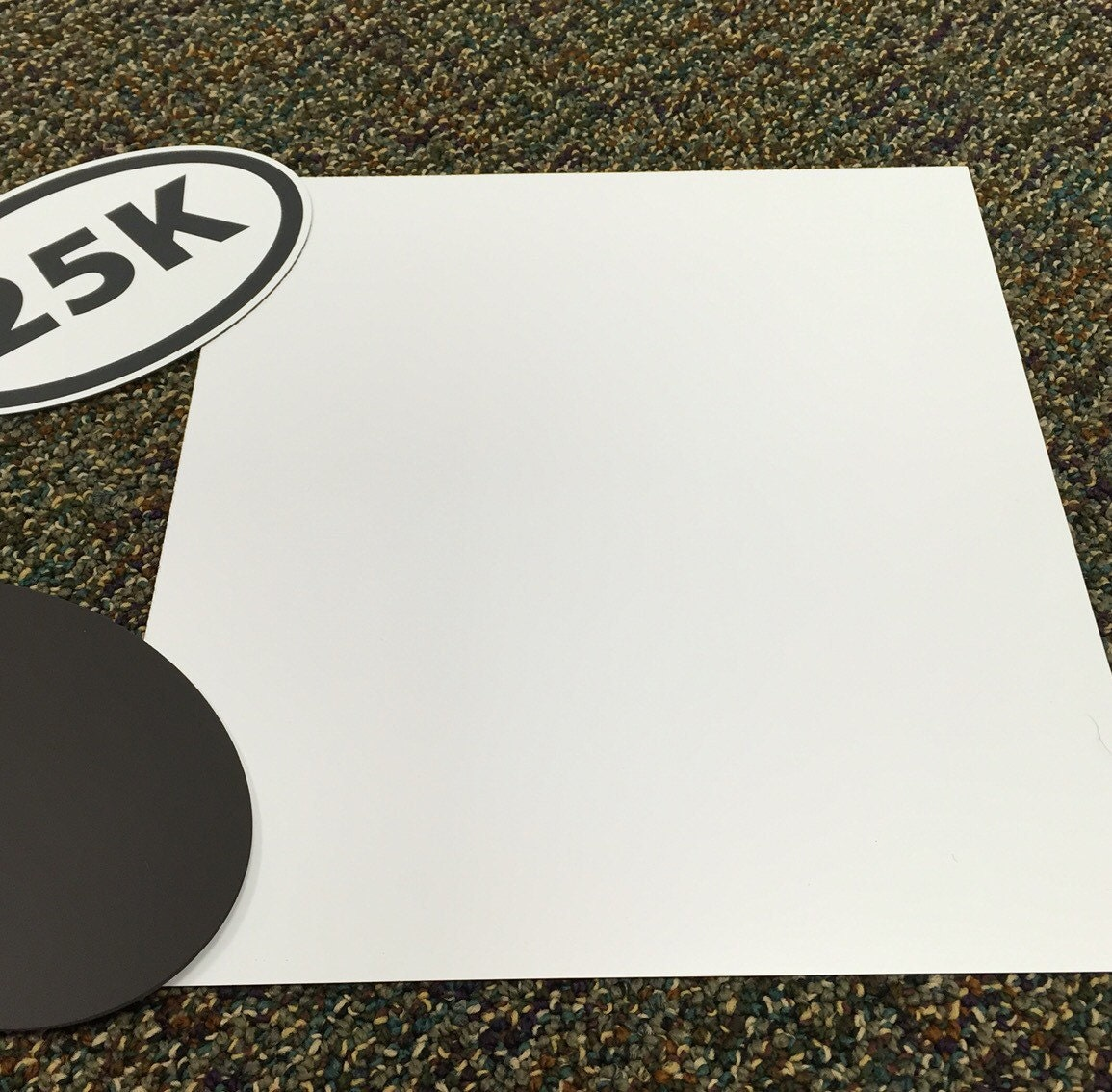 Magnetized White Vinyl For Crafting By The Square Foot Heavy