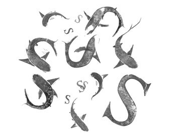 S for Shark print - signed limited edition