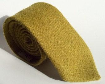 Green tie - Lime tie - Lime green tie - Green neck tie - Lime neck tie - Harris Tweed tie - Harris Tweed neck tie - Lime green neck tie