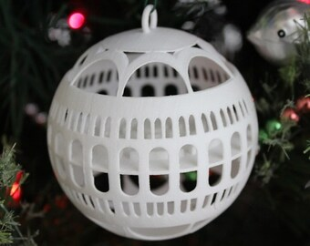 Library of Congress Ornament (White)