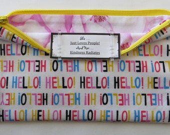 Persette #211 Personalized Zippered Organizing Pouch