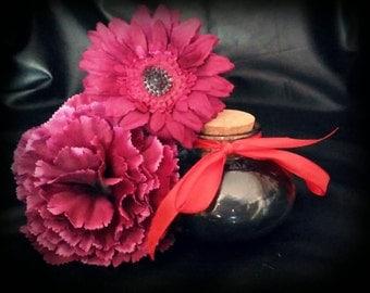 Violet black candle handmade