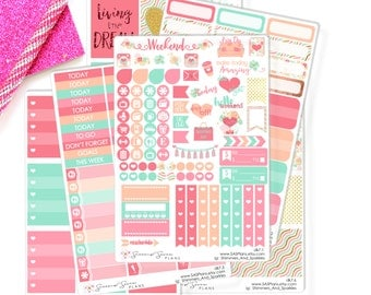 Deluxe Weekly Planner Kit - Dreamy Floral Planner Stickers, Erin Condren Planner Stickers / Erin Condren Stickers / Happy Planner