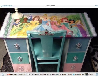 Princess furniture - childrens furniture - kids furniture - girls furniture - pink furniture - kids desk - childrens desk - princess desks