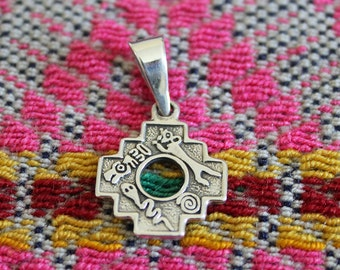 Reversible Andean Cross Pendant