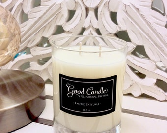 Exotic Satsuma - Double Wick Soy Wax Candle