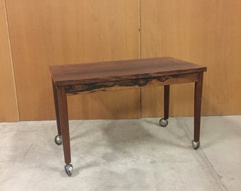 Small rosewood roller table mid century danish design
