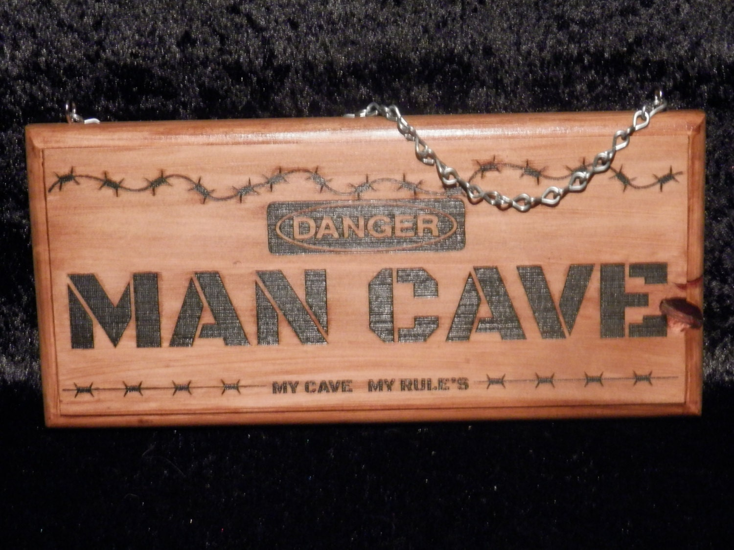Man Cave Rules Sign Australia : Man cave sign danger my rules