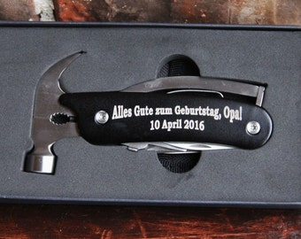 Personalized Hammer Multi-Tool - Father's Day, Groomsman Gift, Birthday Gift