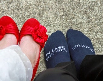 navy blue wedding, in case you get cold feet grooms socks, cold feet socks wedding gift idea navy blue #wedding #groom #navybluewedding #ido