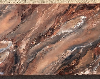 abstract oil painting  12 in x 36 in x 1.5 in