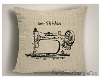 Throw Pillow for Quilters, Gifts for Sewers, Pillow Covers, Decorative Pillows