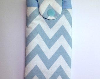 Case smartphone pattern blue chevron