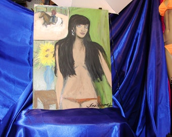 My Mannequin first pose - Original Acrylic painting