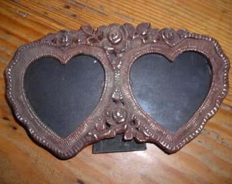 Vintage photo frames in cast bronze