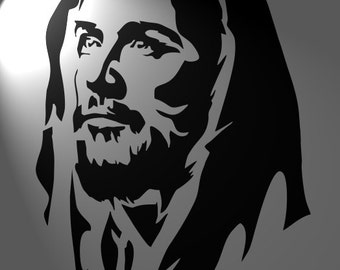 Jesus Christ, stencil mylar cut in format a4  size 18/26cm,portret ,Shabby chic,furniture,french,vintage,christmas